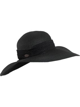 Product Image Turtle Fur Macie Women s Wide Floppy Brim Straw Sun Hat w   Lace Trim Vermont Collection 2eb55352626f