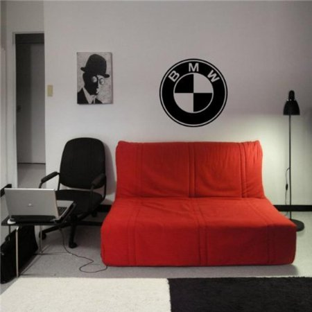 Bmw Logo Garage Dealership Wall Art Sticker Decal 00