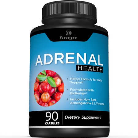 Premium Adrenal Support Supplement - Helps Support Adrenal Health- Daily Adrenal Health Formula – Adrenal Complex Includes Ashwagandha, L-Tyrosine, Holy Basil & Acerola – 90 Capsules