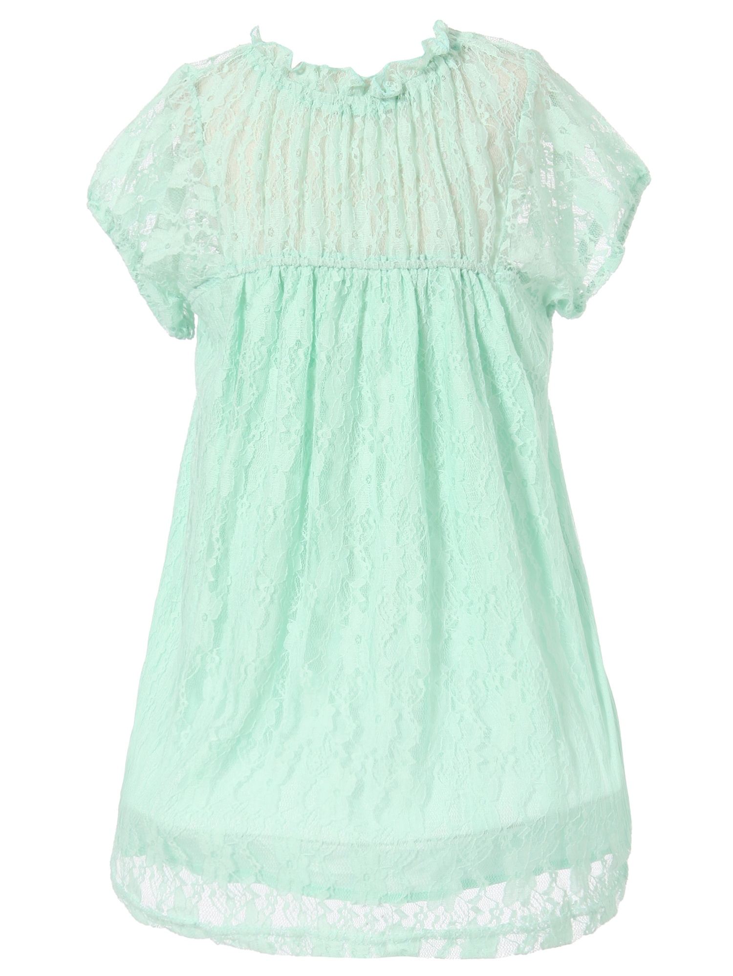 Richie House Girls' Sweet Top with Lace RH1551