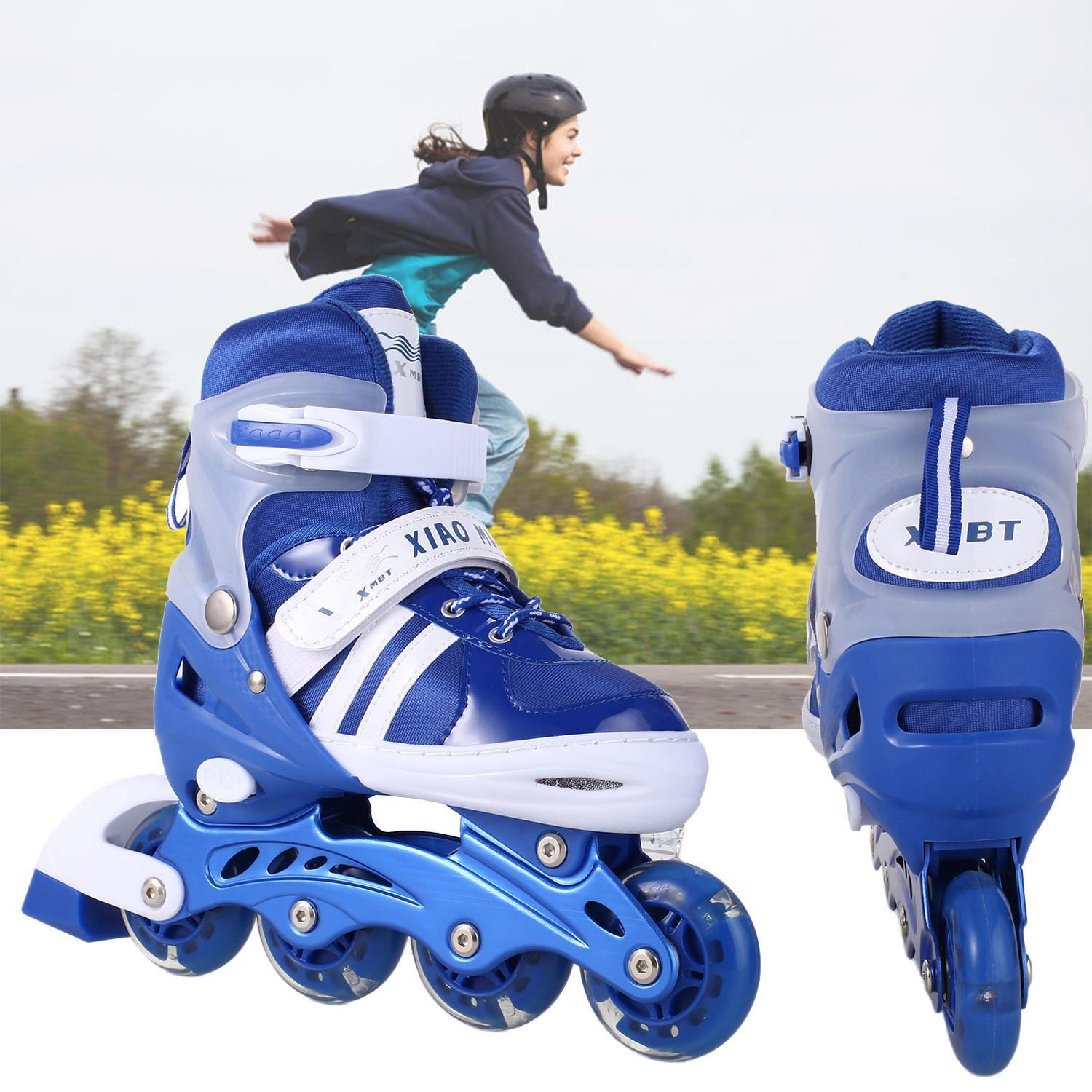 Studiostore Kids Children Inline Skate Light Up Wheel  RollerTracer Adjustable  For Indoor Outdoor STDTE