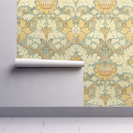 Peel-and-Stick Removable Wallpaper Victorian Damask Damask Victorian Art Nouveau