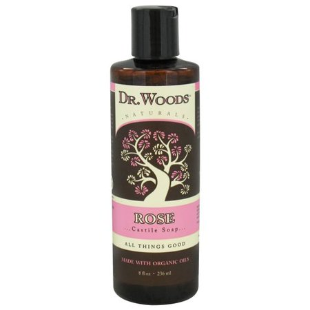 Dr Woods Naturals Castile Liquid Soap Rose 8 Fl Oz