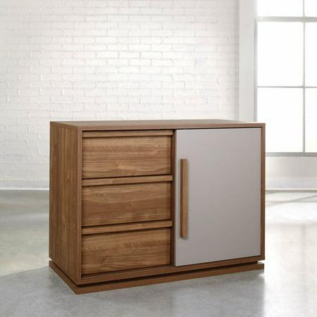 Sauder Furniture Soft Modern High Boy 40 Inch TV Stand, Walnut Finish 414984