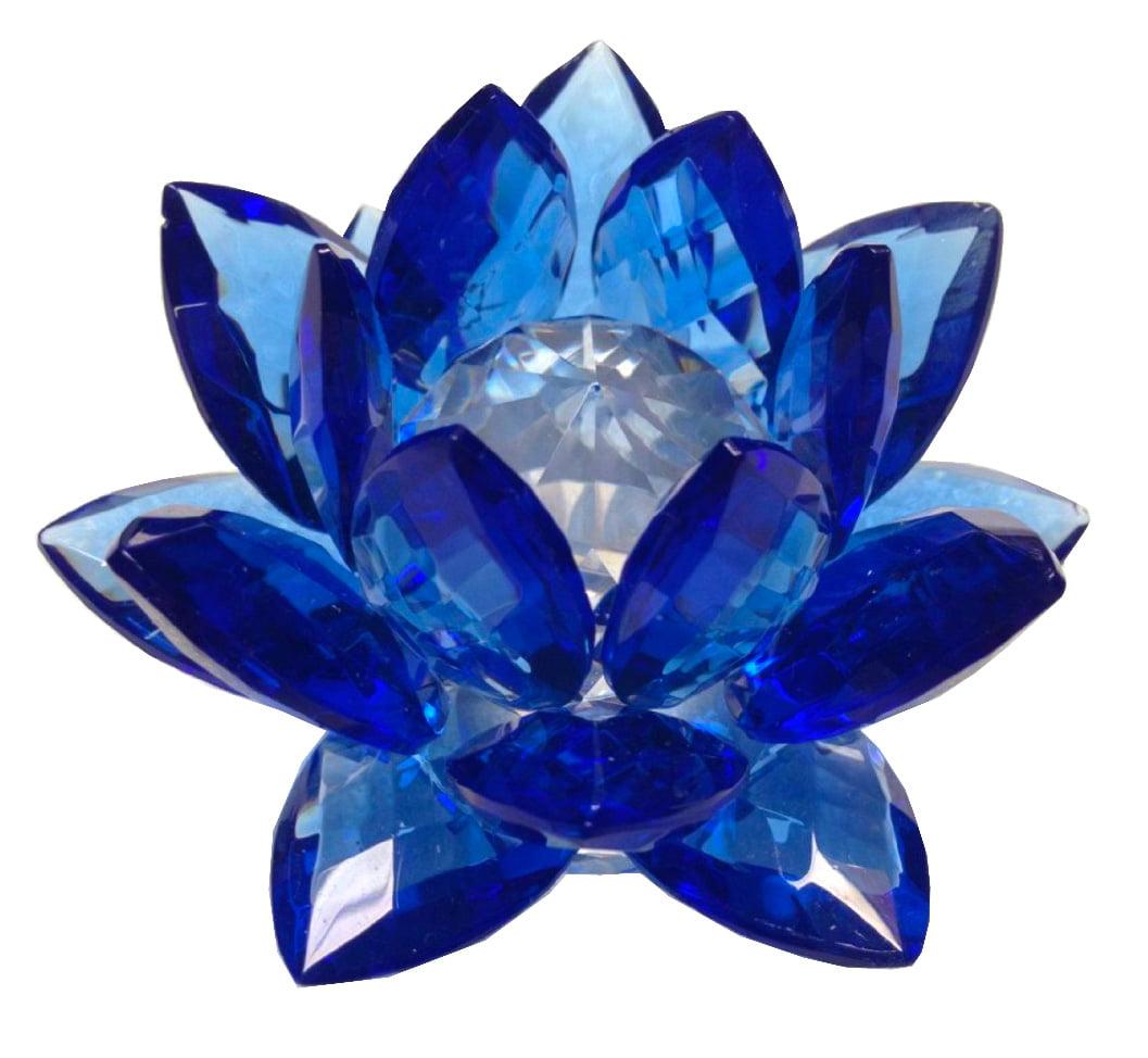 Amlong Crystal 3 Sapphire Crystal Lotus Flower Walmart Com Walmart Com