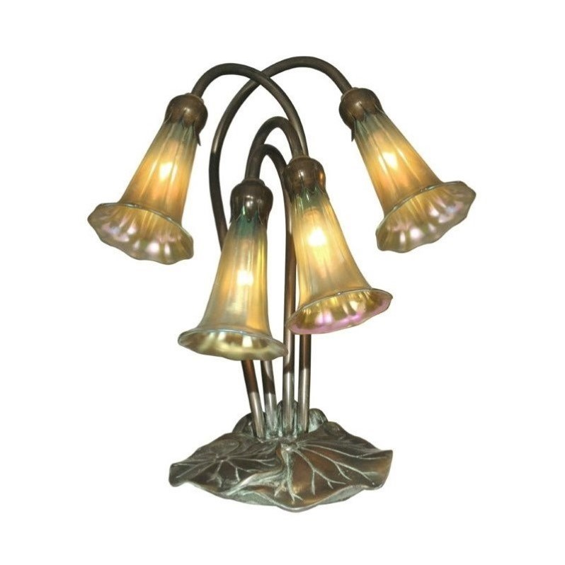 Dale Tiffany 4 Light Gold Lily Accent Lamp