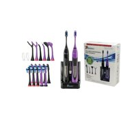 PURSONIC S522BP Dual Handle Ultra High Powered Sonic Electric Toothbrush  Black & Purple