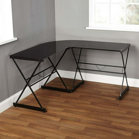 Atrium Metal And Gl L Shaped Computer Desk Multiple Colors