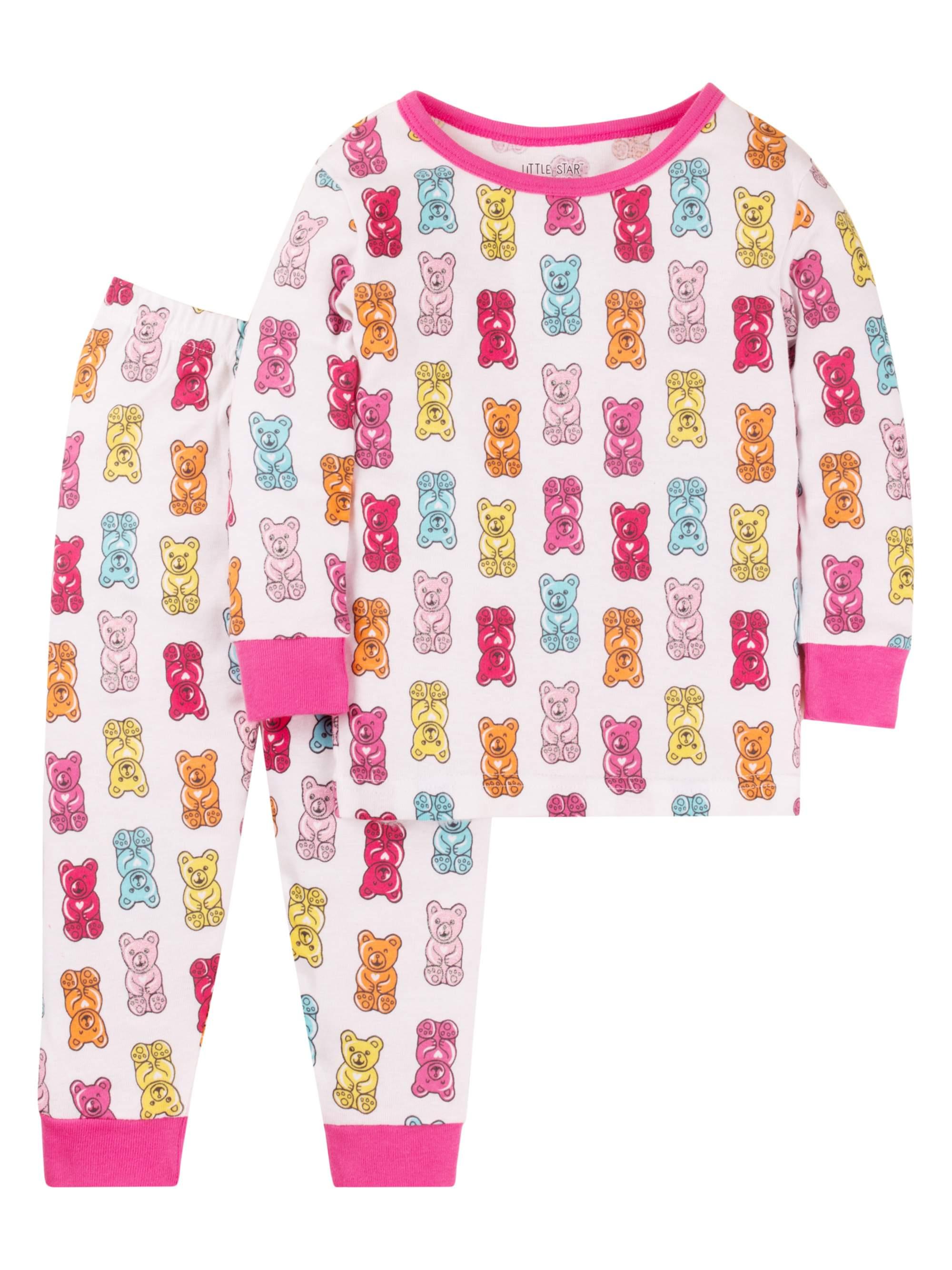 Cotton Tight Fit Pajamas, 2-piece Set (Baby Girls & Toddler Girls)