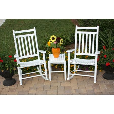 Dixie Seating Slat Seat Porch Rocking Chair Table Set