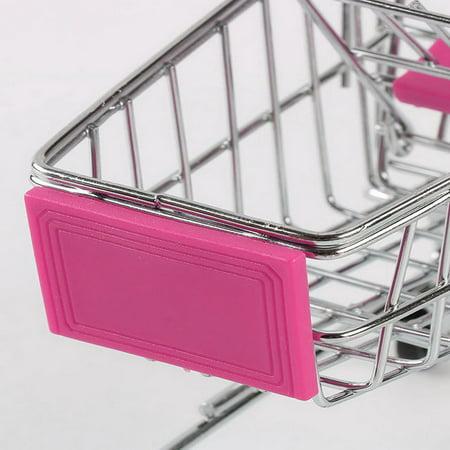 Creative Supermarket Mini Shopping Cart Trolley Metal Simulation Kid Toy - image 5 de 6
