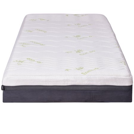 Foam Mattress Bed Pad - Costway Twin Size 10