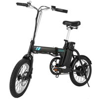 Folding Bicycle 16 Inch Collapsible Electric Commuter with 36V 8Ah Lithium Battery