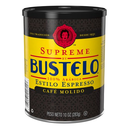 Supreme by Bustelo Espresso Ground Coffee, 10-Ounce Can