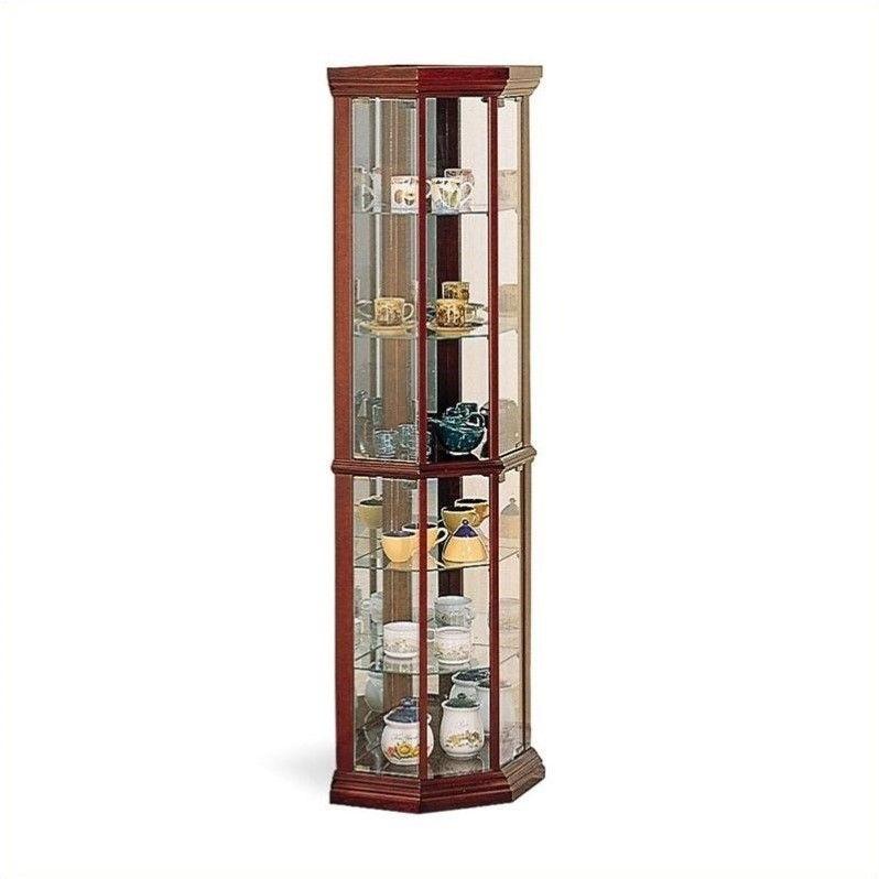 Coaster Company Corner Curio Cabinet, Medium Brown by Coaster Company