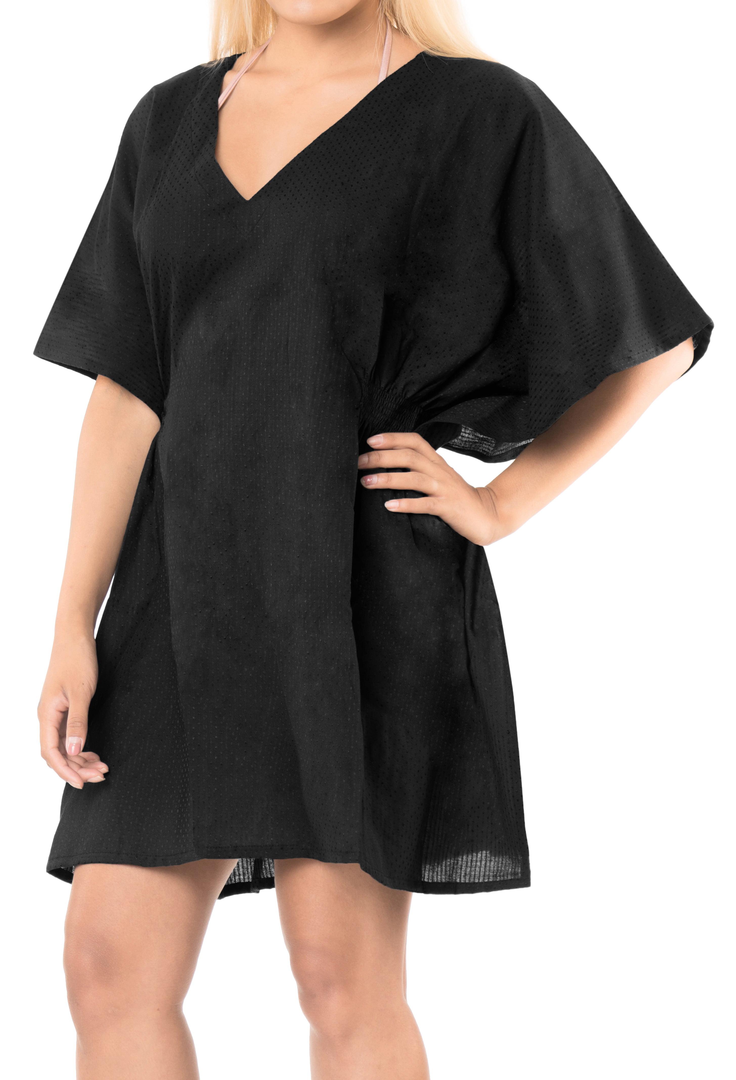 3fa586ba060 LA LEELA - LA LEELA Chiffon Women Bikini Kimono Plus size Blouse Swimwear  Cover ups Black - Walmart.com