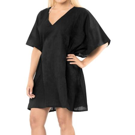 2cbc6c0dc23 LA LEELA - LA LEELA Chiffon Women Bikini Kimono Plus size Blouse Swimwear  Cover ups Black - Walmart.com