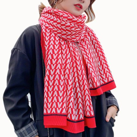 Winter Warm Fashion Large Scarves Women's Thick Long Cashmere Winter Wool Blend Soft Solid Color Scarf Shawl Wrap Plaid Scarf 7C