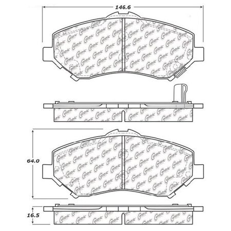 Go-Parts OE Replacement for 2018-2018 Jeep Wrangler JK Front Disc Brake Pad Set for Jeep Wrangler