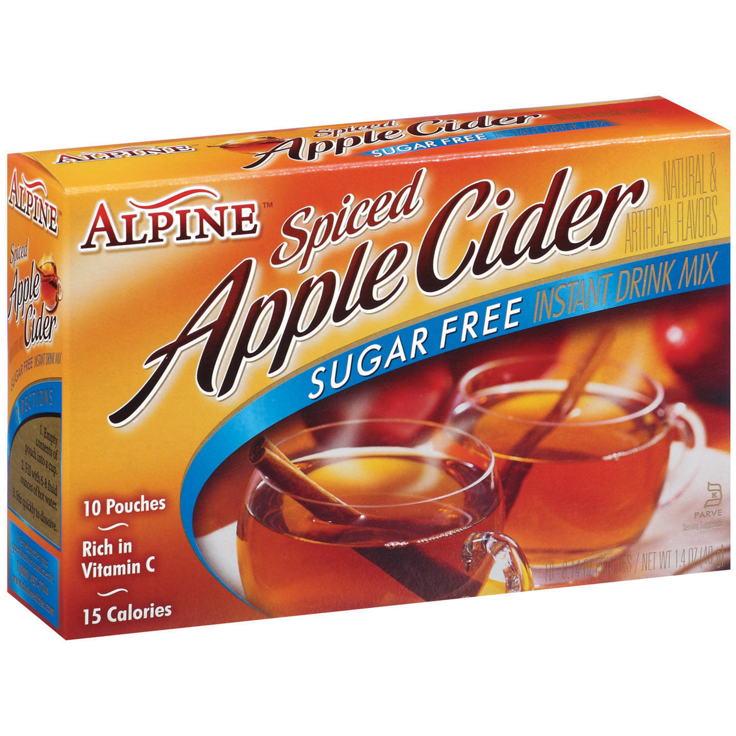 Alpine Sugar Free Spiced Apple Cider Instant Drink Mix, 10 Ct/10 oz