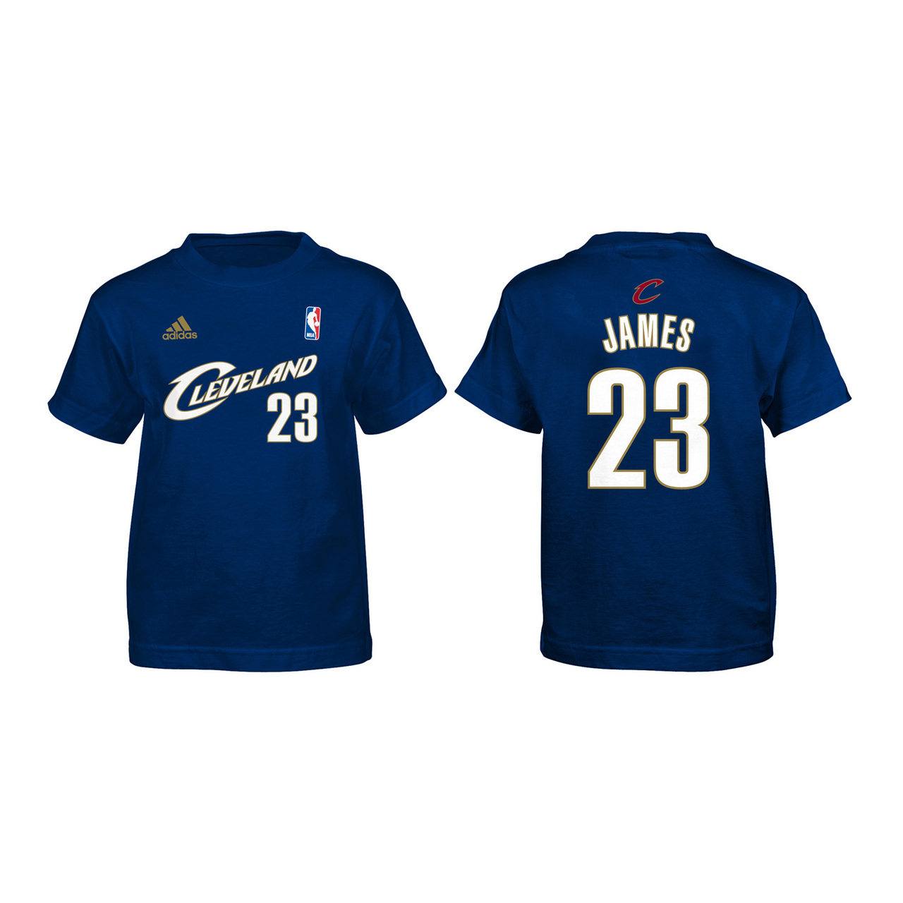 Cleveland Cavaliers Youth Lebron James Gametime Name and Number T-Shirt - Navy #23