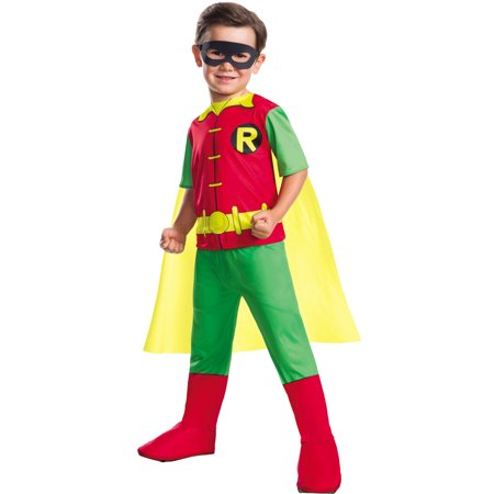 Dc Comics Boys Robin Boy Wonder Teen Titans Childs Halloween Costume - Halloween Costume Dc