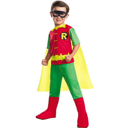 Dc Comics Boys Robin Boy Wonder Teen Titans Childs Halloween Costume - Robin Hood Boys Costume