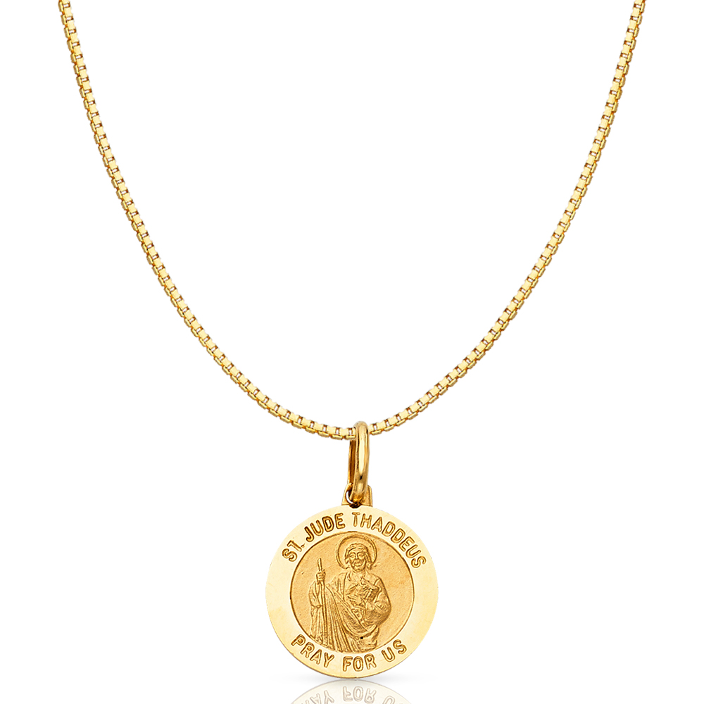 Details about  /14K Gold St Jude Pray For Us Religious Charm Pendant For Necklace or Chain