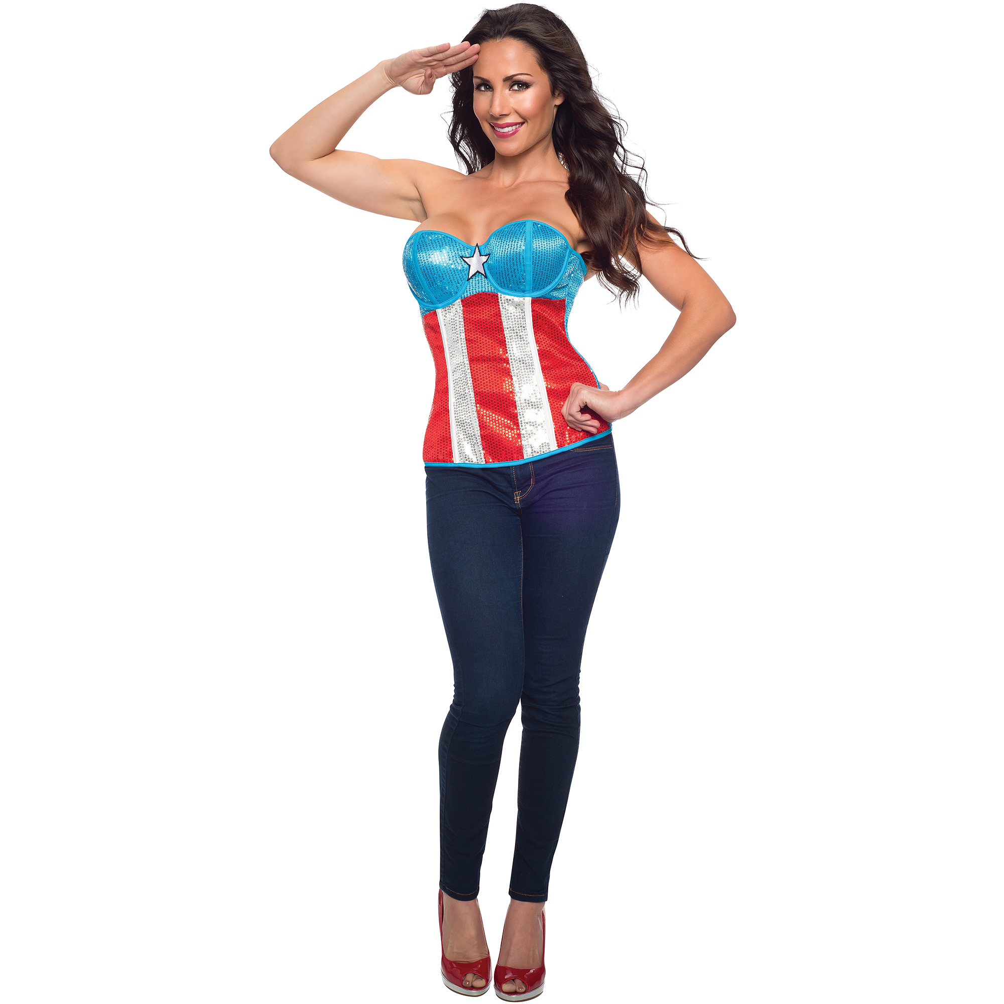 American Dream Sequin Top Adult Halloween Accessory