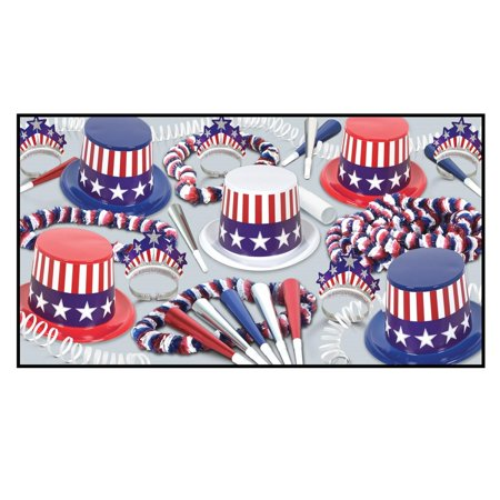 Decorative Spirit Of America Party Assortment for 25 People - Party Of America