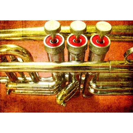 (Framed Art For Your Wall Trumpet Horn Sound Musical Instrument Music Tune 10x13 Frame)