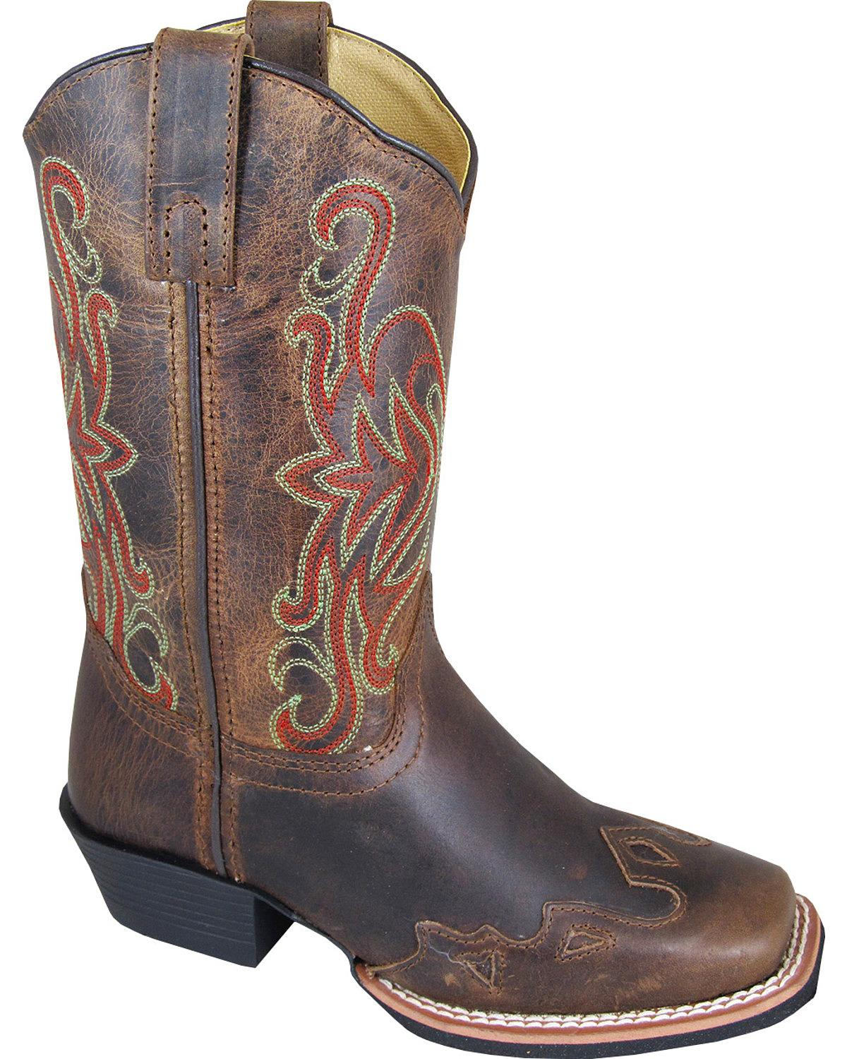 Smoky Mountain Boys' Rialto Western Boot Square Toe - 3446C