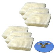 HQRP 6-pack Humidifier Wick Filter for ProCare AC813 PCWF813 PCWF813-24 PCCM-832N Cool Mist Humidifier, Replacement + HQRP Coaster