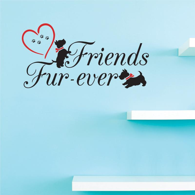 Custom Decals Friends Fur-ever Wall Art Size: 10 Inches x 20 Inches Color: Multi