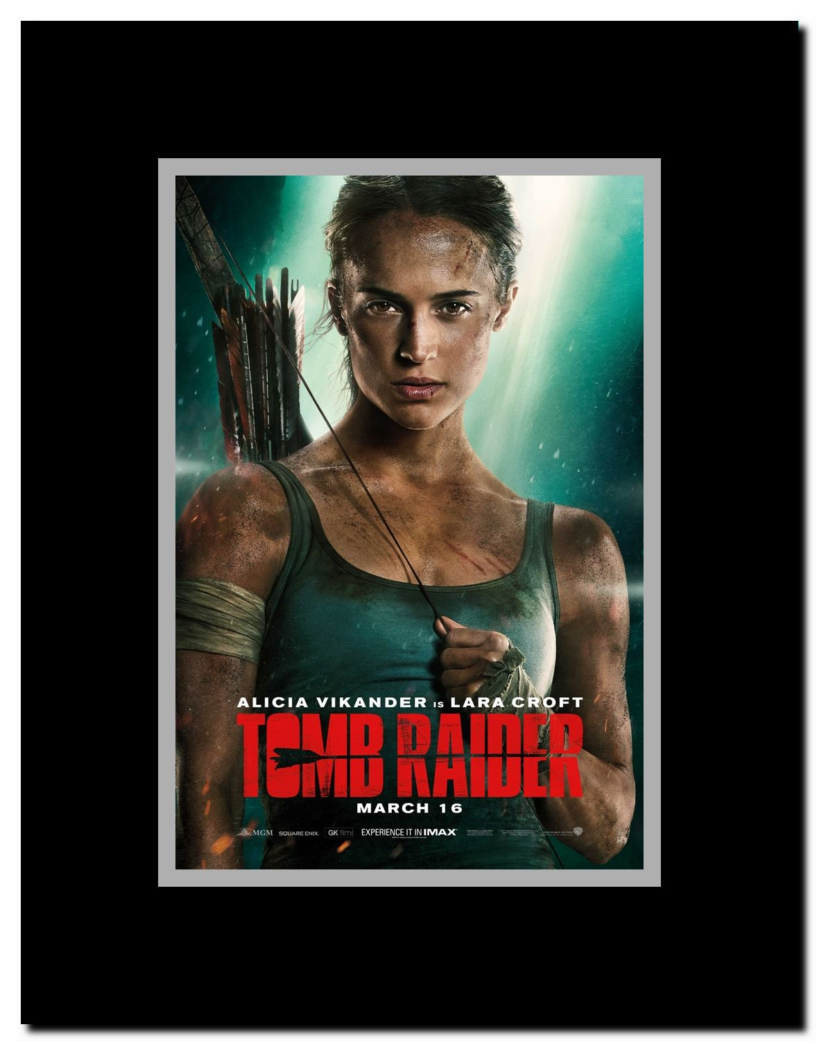 Tomb Raider Framed Movie Poster Walmart Com Walmart Com