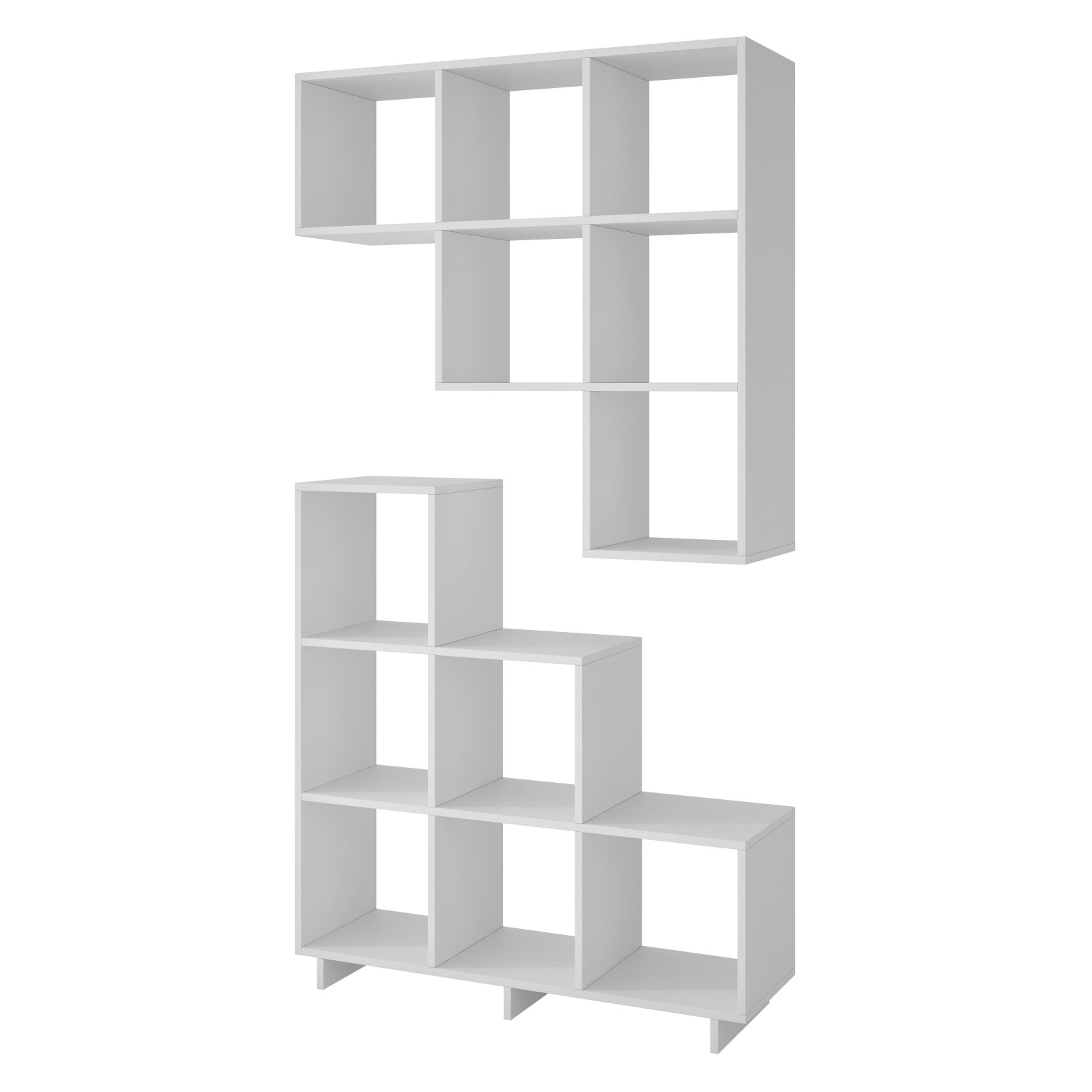 Manhattan Comfort Cascavel Stair Cubby Modular Bookcase Set Of 2
