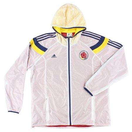 Adidas Mens Federation Colombia Football Anthem Track Jacket White XXL