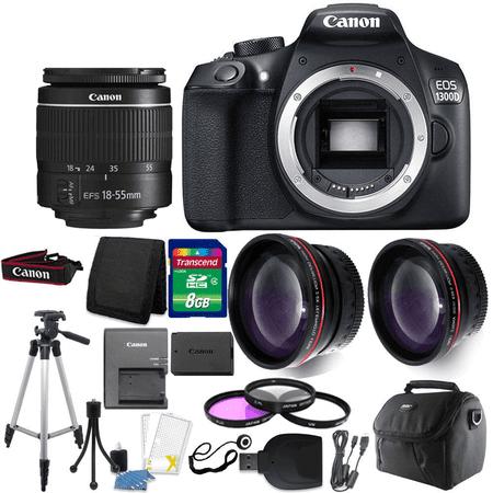 Canon EOS 1300D/T6 18MP DSLR Camera + 18-55mm Lens + Accessory Kit (Canon 3d)