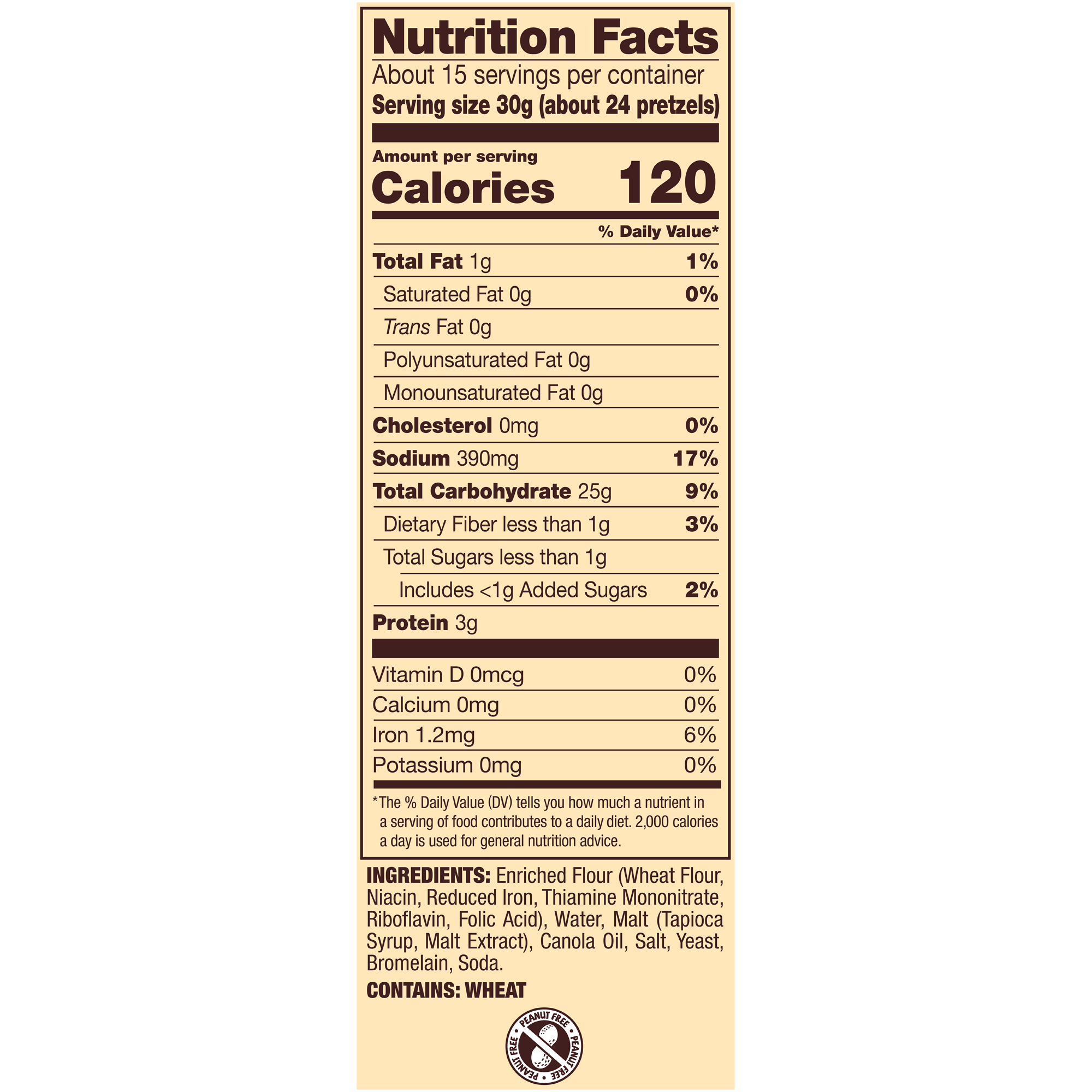 snyder's of hanover snaps pretzels, family size 16 oz - walmart