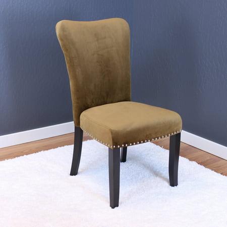 Aalten Brown Sugar Velvet Dining Chairs (Set of 2) ()