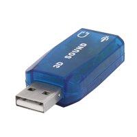 Unique Bargains External USB 2.0 to 3D Virtual Audio Sound Card Adapter Converter 5.1 CH