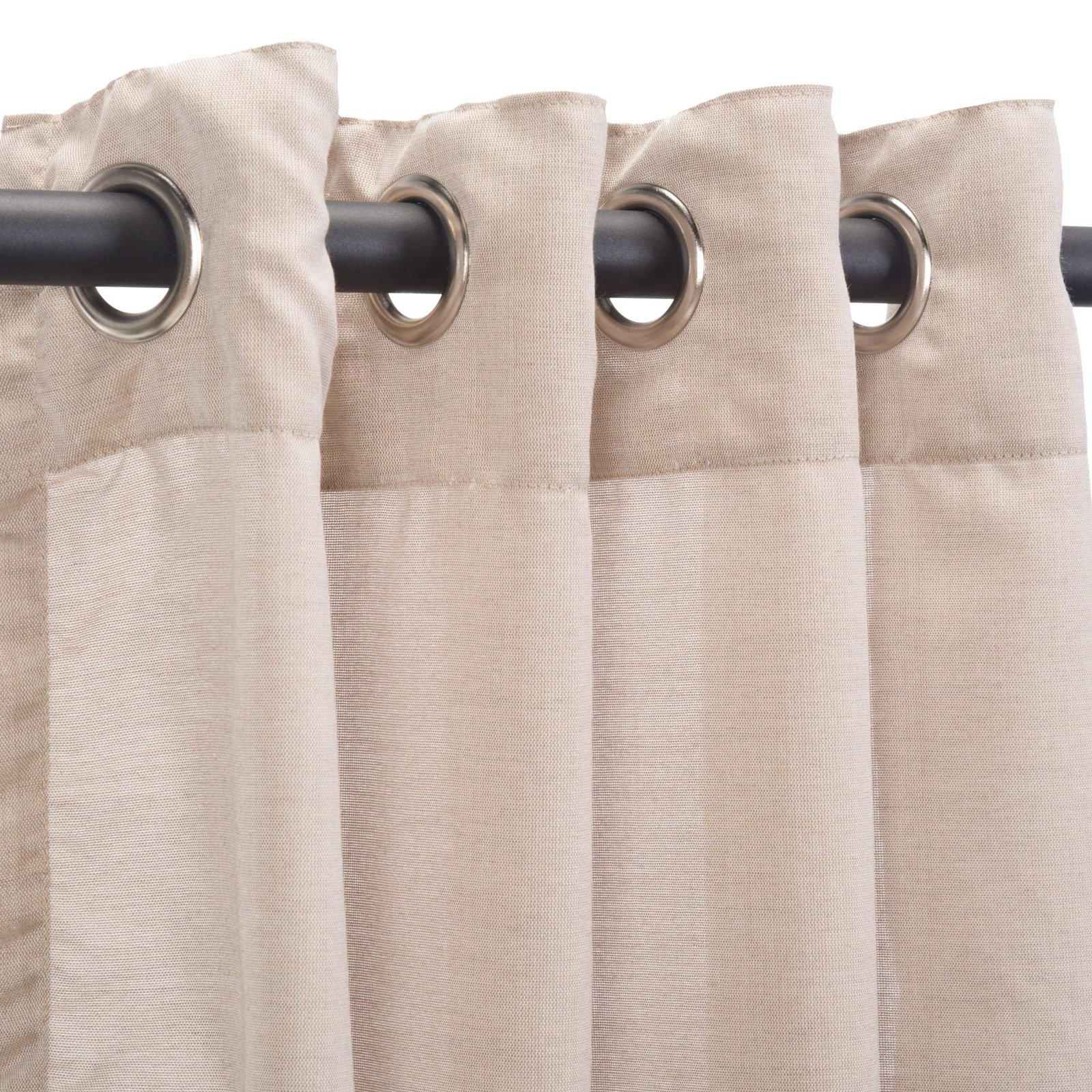 Pawleys Island Sheer Sunbrella Grommet Top Outdoor Curtain