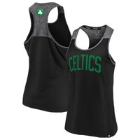Boston Celtics Fanatics Branded Women's Made to Move Static Performance Racerback Tank Top - Black/Heathered Black