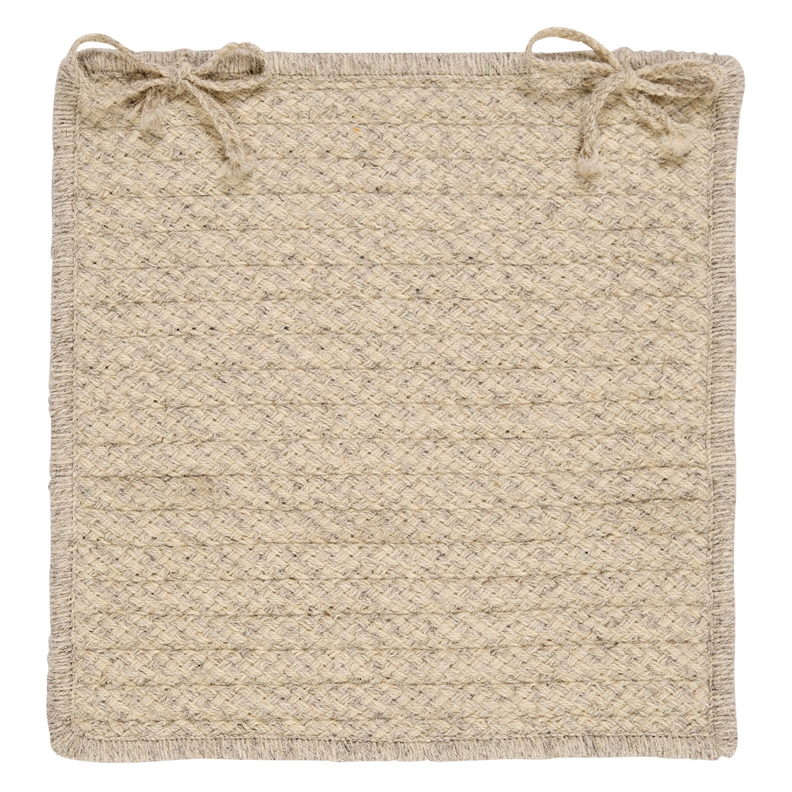 Colonial Mills HD31A015X015S Natural Wool Houndstooth 15 in. Cream Chair Pad Set of 4 by Colonial Mills Inc