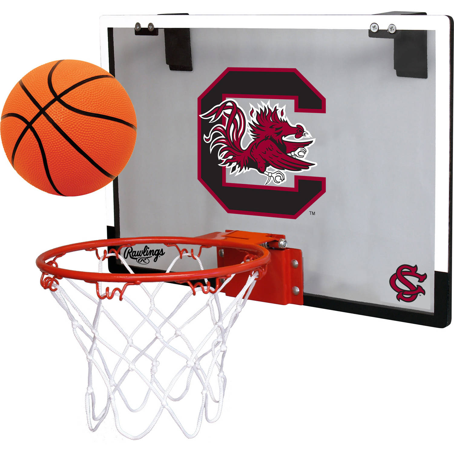 Rawlings NCAA Polycarbonate Hoop Set University Of South Carolina Gamecocks