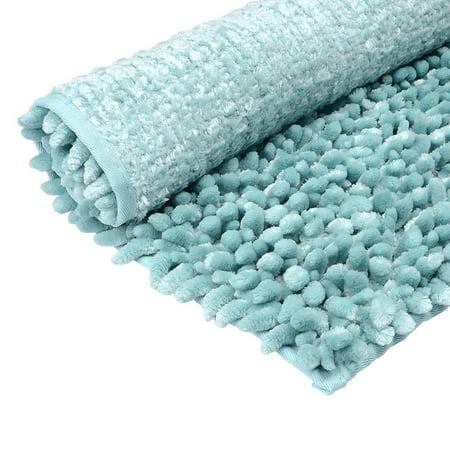 Bathroom Rugs That Absorb Water.Bath Mat Soft Anti Skid Microfiber Chenille Antibacterial Bath Rug