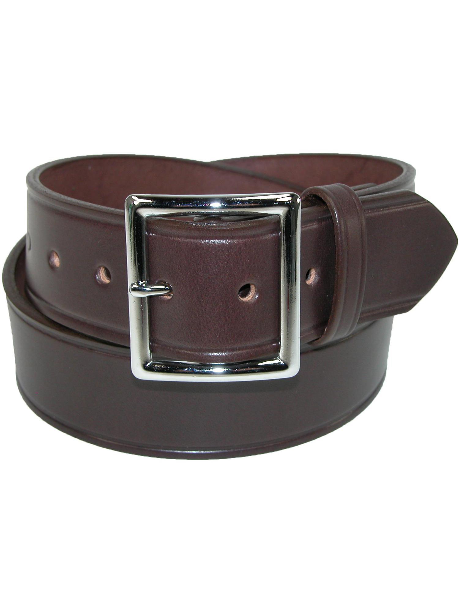 Nocona Western Belt Mens Leather Smooth Overlay Black N2450401