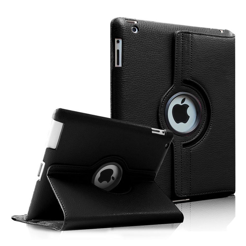 Fintie Apple iPad 2/3/4 Case - 360 Degree Rotating Stand Cover with Auto Wake/Sleep Feature, Black