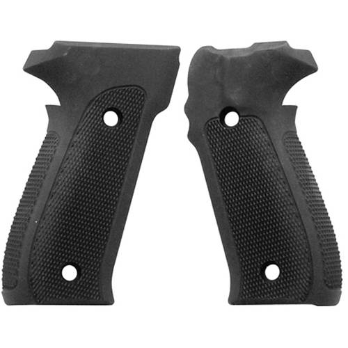 Hogue Sig P226 Grips Checkered Aluminum Matte Black Anodized