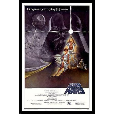 Star Wars Movie Poster Sexy Princess Leia   Luke Skywalker Lightsaber 24X36